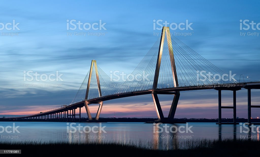 Cooper River Bridge in Charleston SC stok fotoğrafı