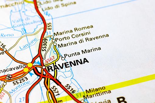 Ravenna Cartina Geografica Italia.Ravenna Regione Sulla Mappa Fotografie Stock E Altre Immagini Di