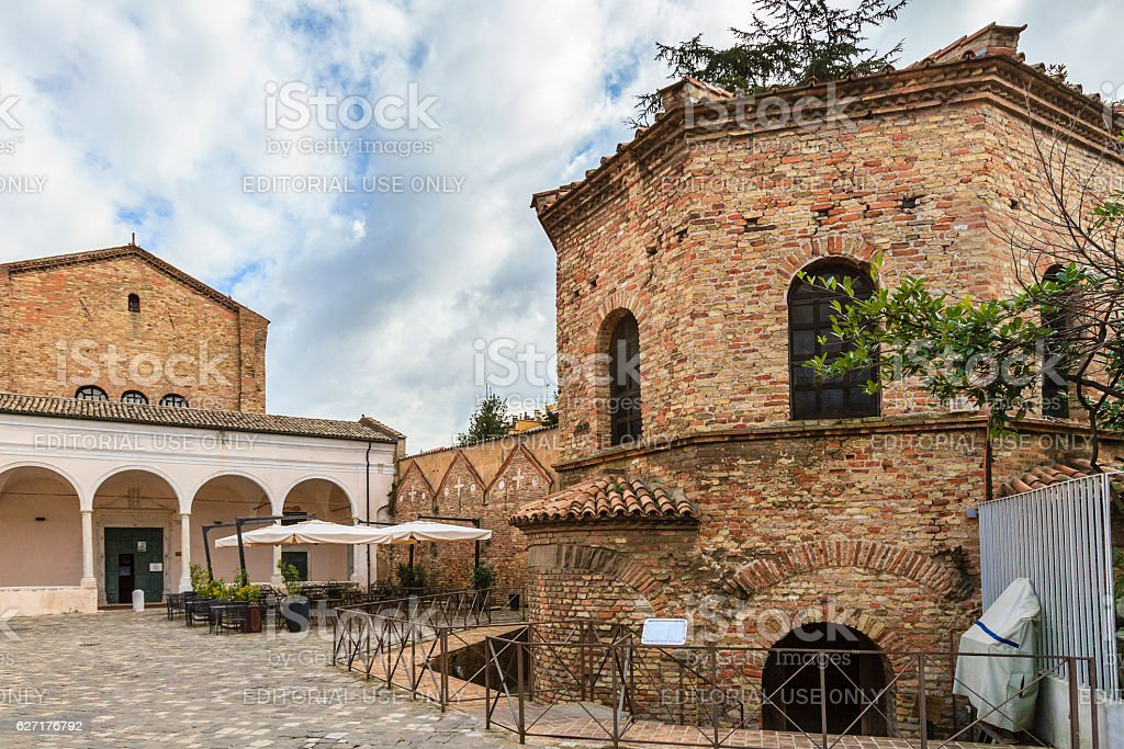 Ravenna, Battistero degli Ariani - Italy stock photo