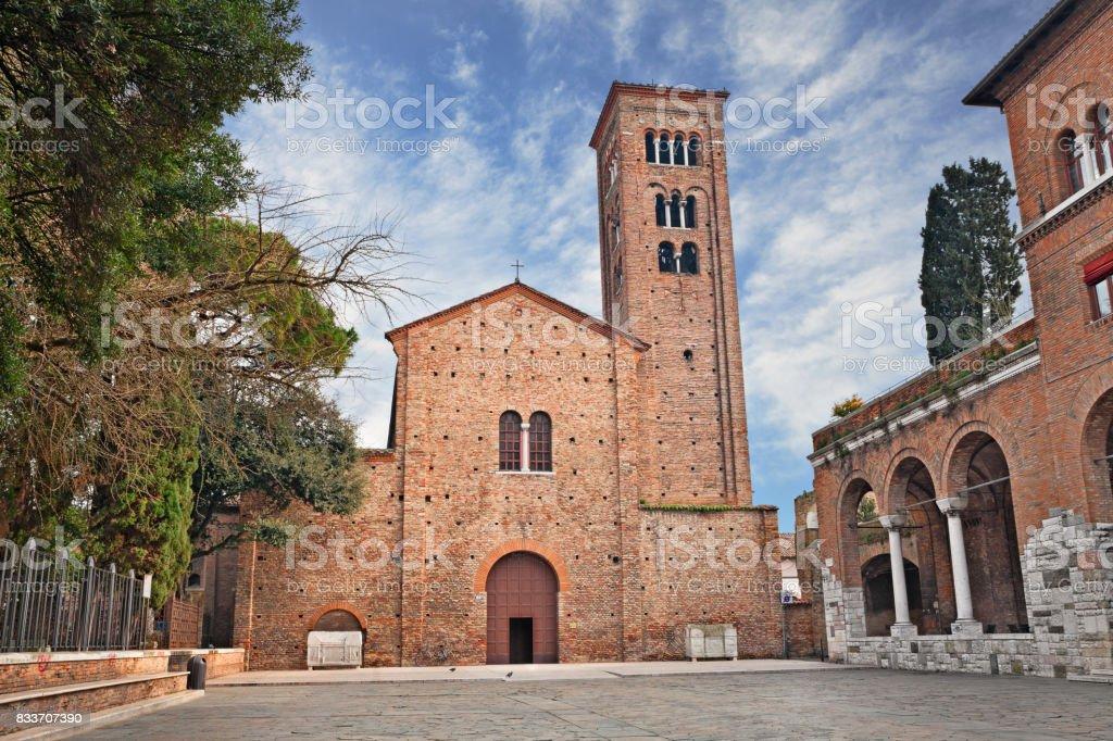 Ravenna, Italy: the medieval St. Francis basilica stock photo