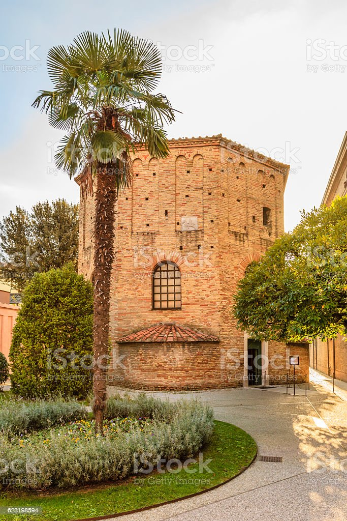 Ravenna, Battistero Neoniano - Italy stock photo