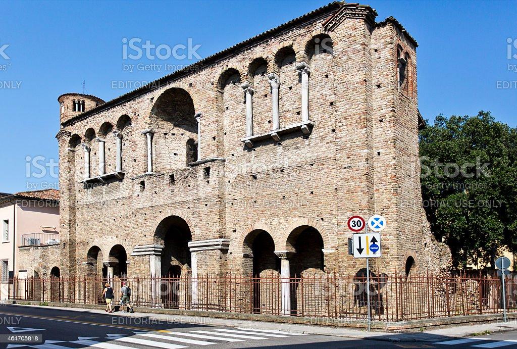 Ravenna Palace of Theodoric stock photo