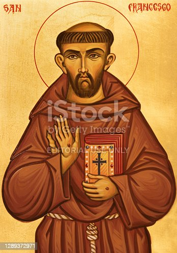 Ravenna - The icon of St. Francis of Assisi in the church chruch Chiesa di Santa Maria Maddalena.