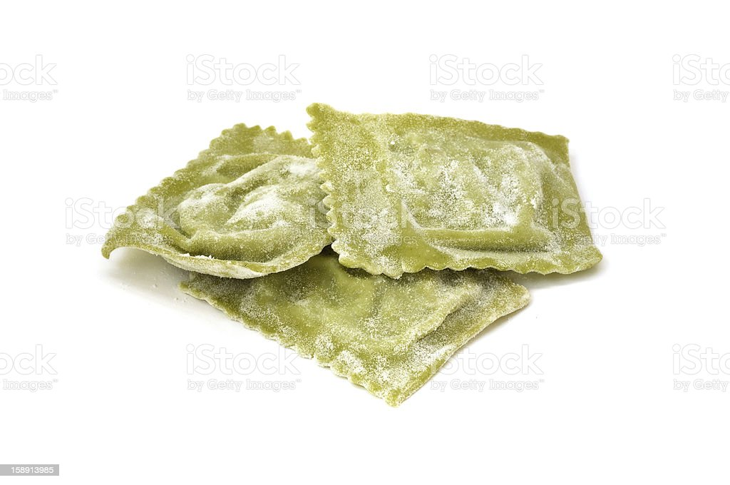 Ravioli filled with ricotta and spinach royalty-free stock photo