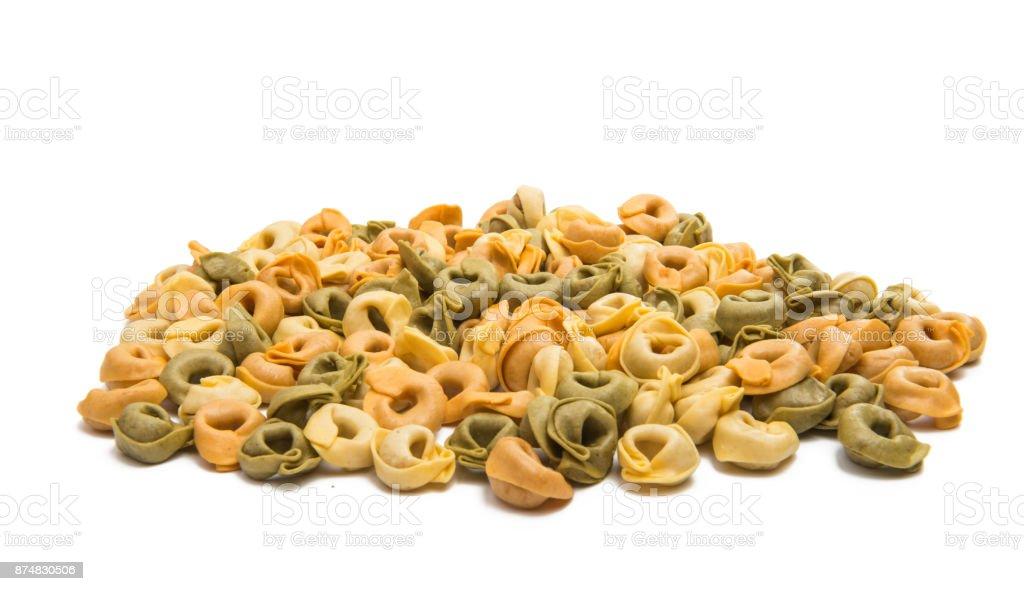 ravioli isolated stock photo