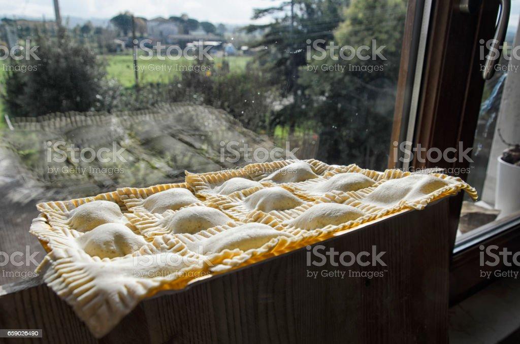 Ravioli made with whole wheat flour royalty-free stock photo