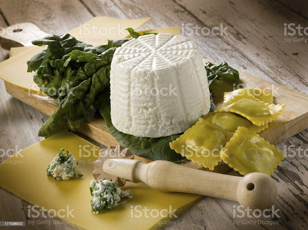 Ravioli mit ricotta und Spinat Vorbereitung – Foto