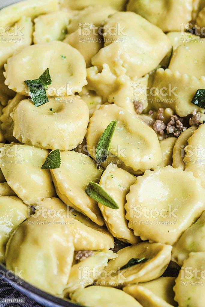 Ravioli with Ricotta and Mozzarella Cheese royalty-free stock photo