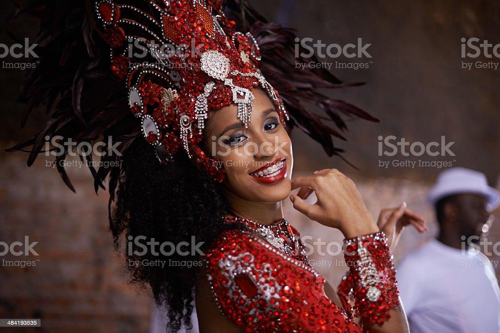 Ravishing in red stock photo
