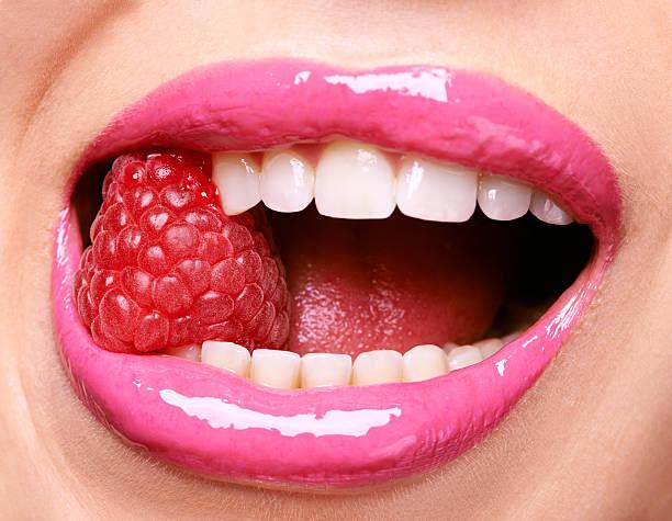 Ravishing raspberries stock photo