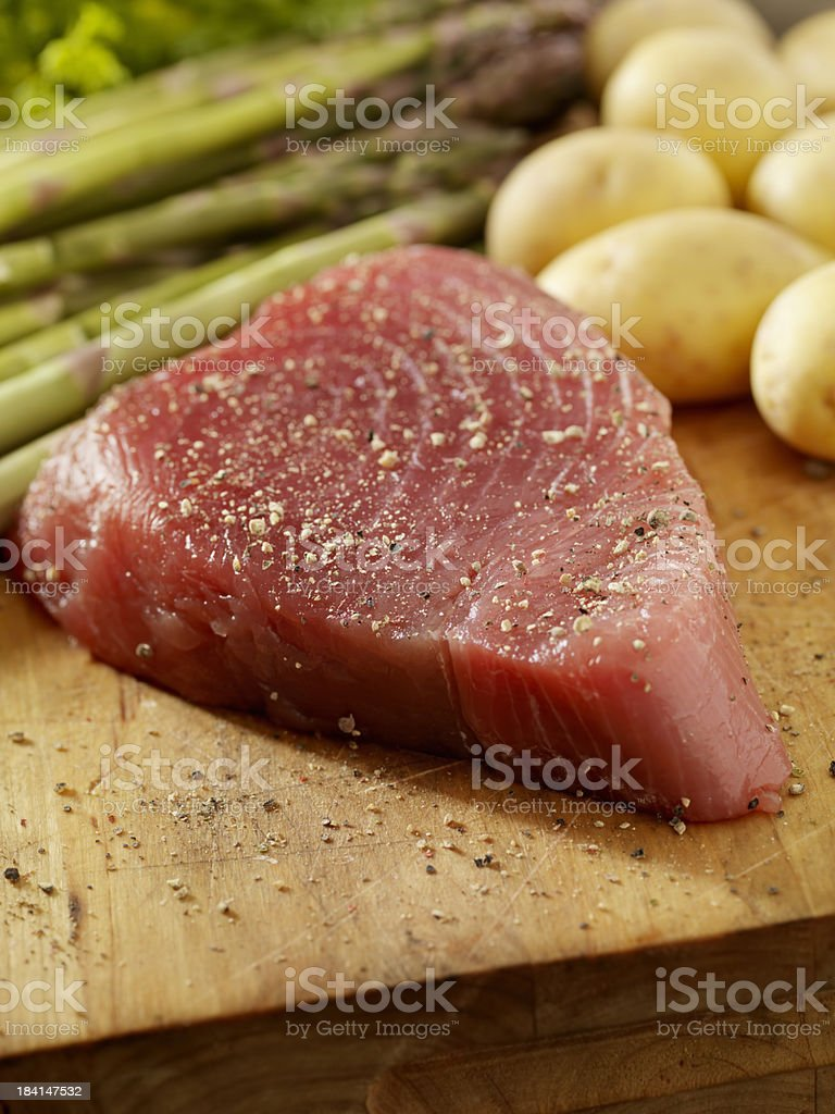 Raw Ahi Tuna Steak fresh from the Market royalty-free stock photo
