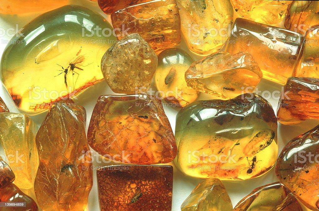 Raw amber stock photo
