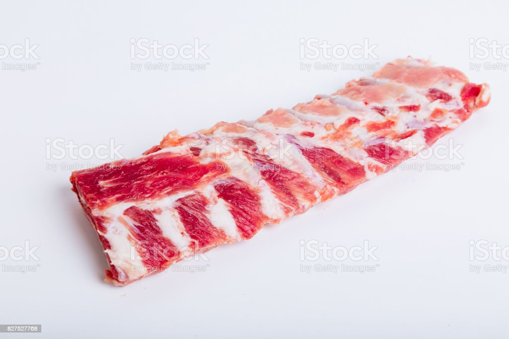Raw and fresh pork rib stock photo