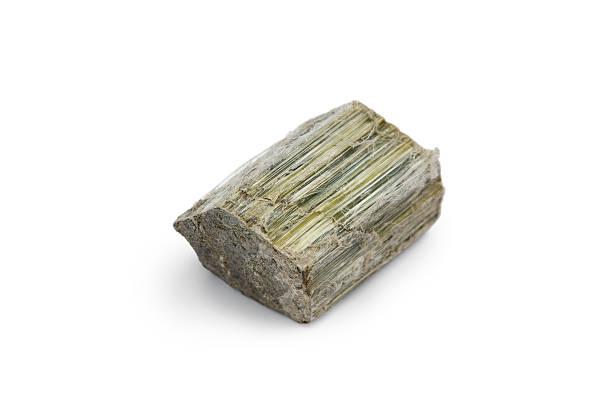 Raw Asbestos Mineral Specimen stock photo