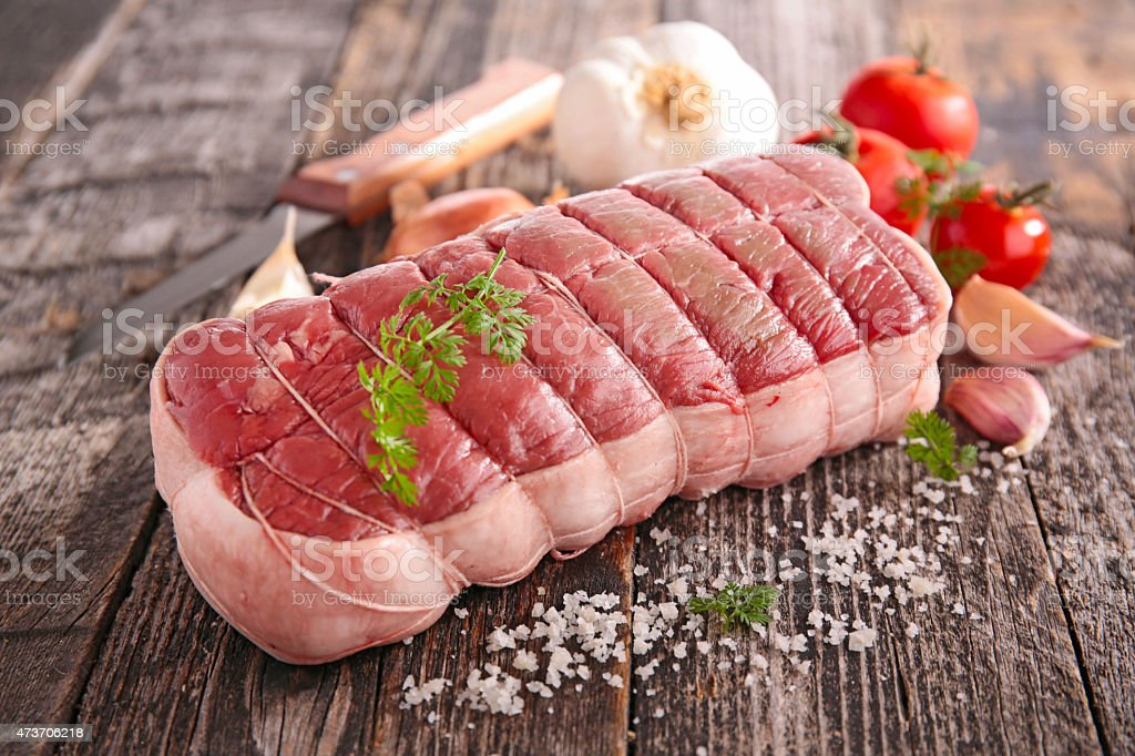 raw beef filet stock photo
