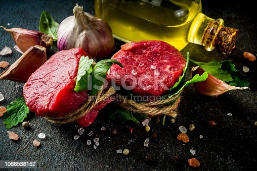 808351094 istock photo Raw beef fillet steaks mignon 1066538152