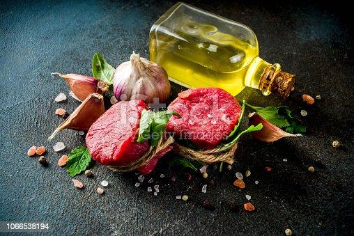 808351094 istock photo Raw beef fillet steaks mignon 1066538194