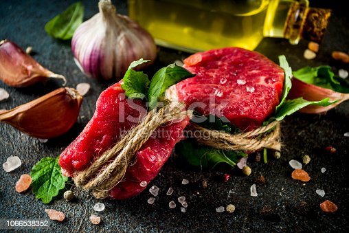 808351094 istock photo Raw beef fillet steaks mignon 1066538352