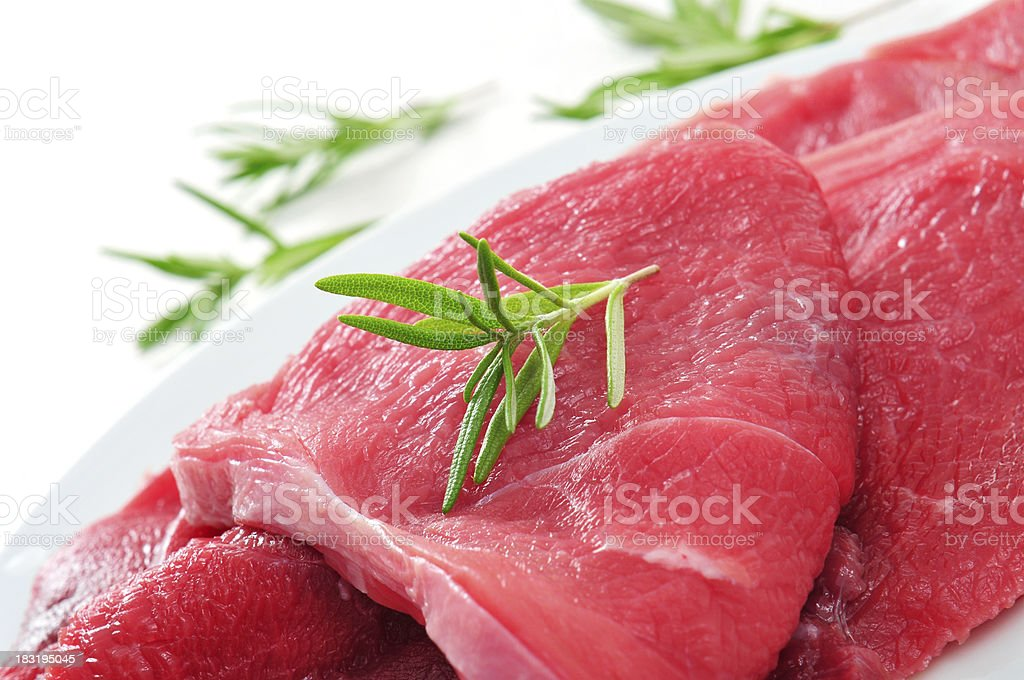 raw beef fillets royalty-free stock photo
