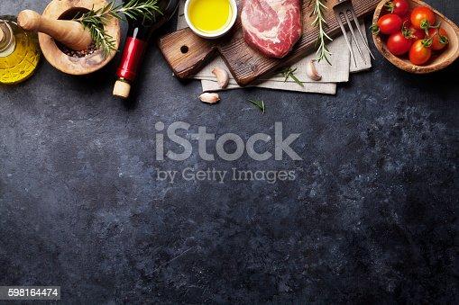 istock Raw beef steak cooking 598164474