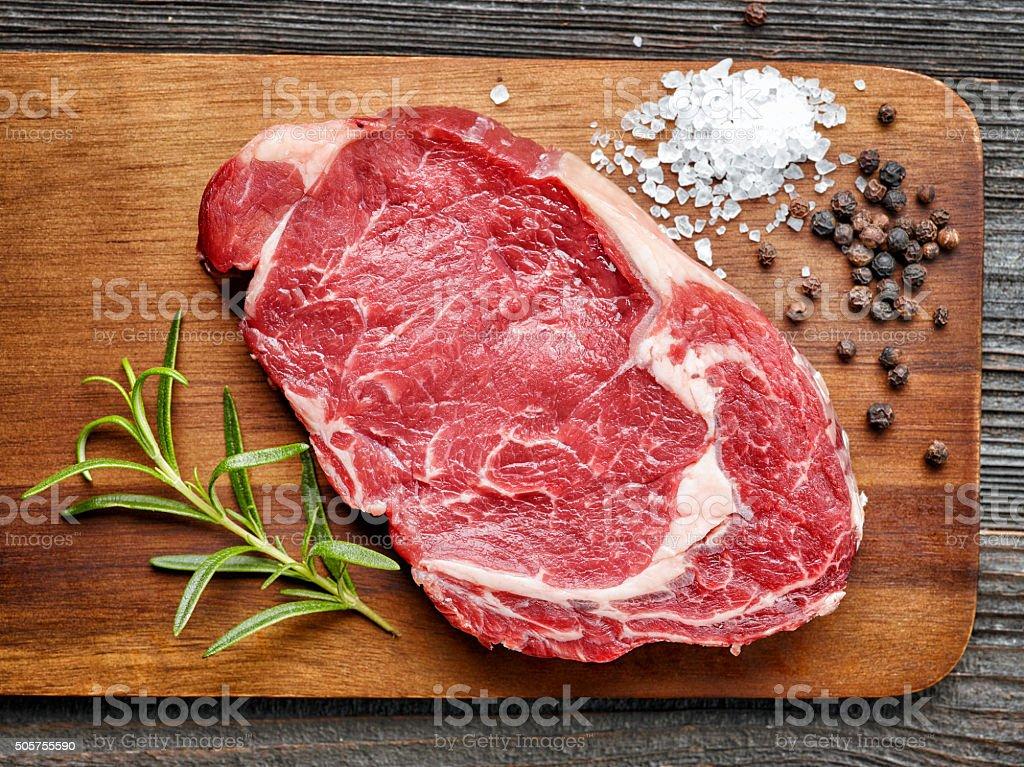 Filé de carne crua - foto de acervo