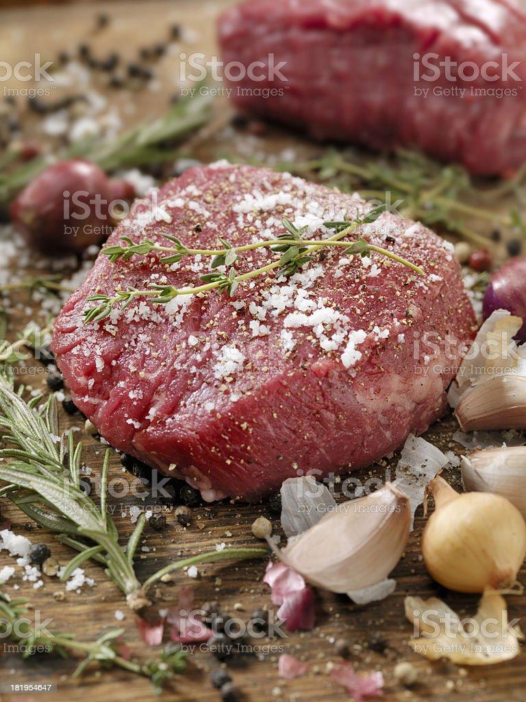 Raw Beef Tenderloin royalty-free stock photo