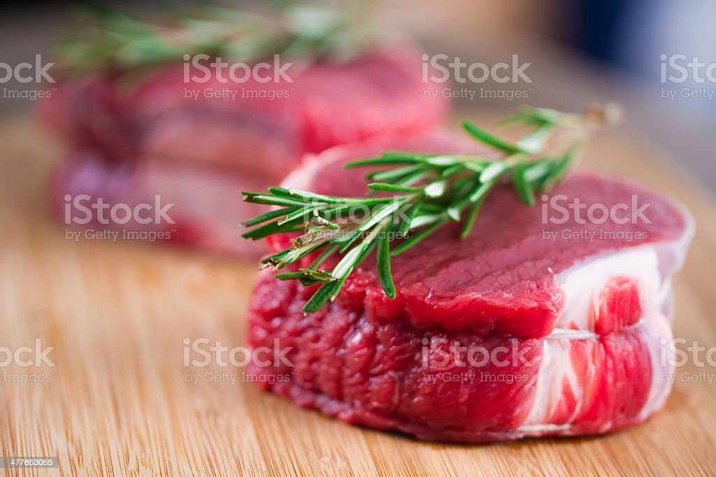 Raw Beef Tenderloin stock photo