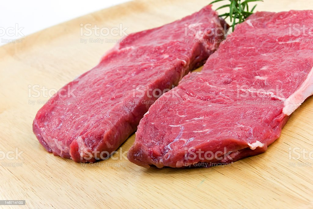 raw beef-roast beef meat steak on the wooden background royalty-free stock photo