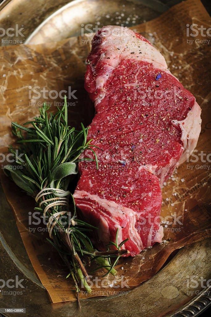 Raw Beefsteak stock photo