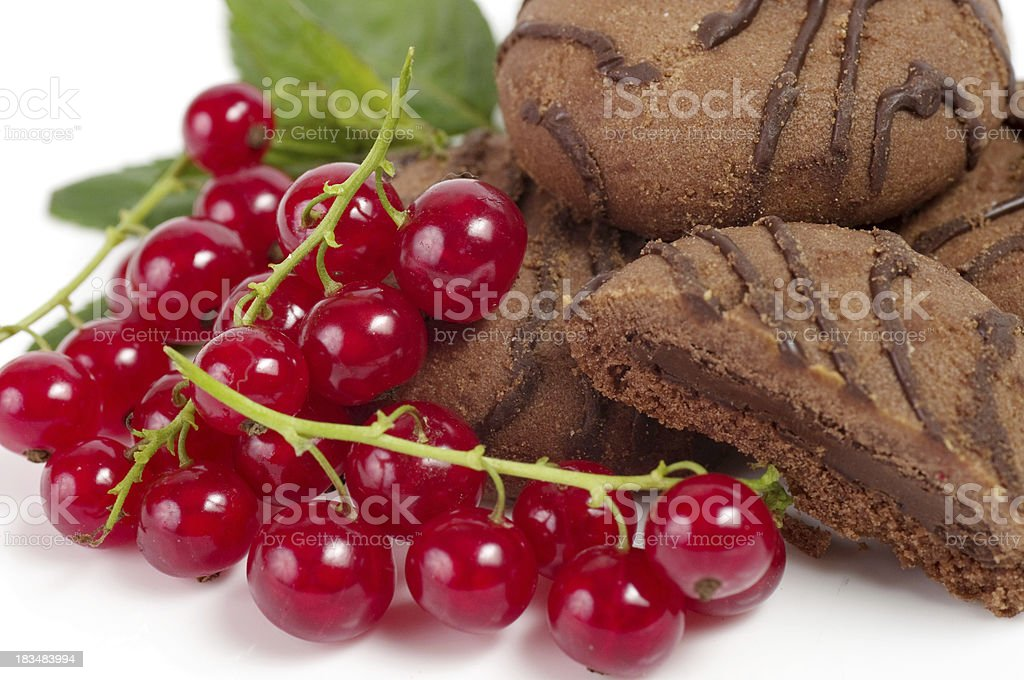 Raw berry and tasty cake royalty-free stock photo