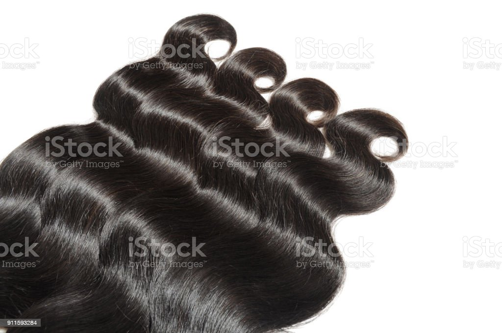 raw wavy human hair used for making hair extensions