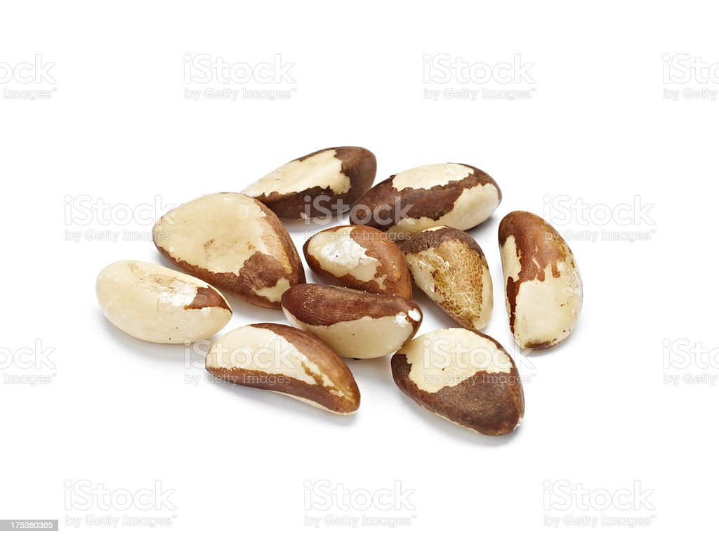 Raw Braziil Nuts stock photo