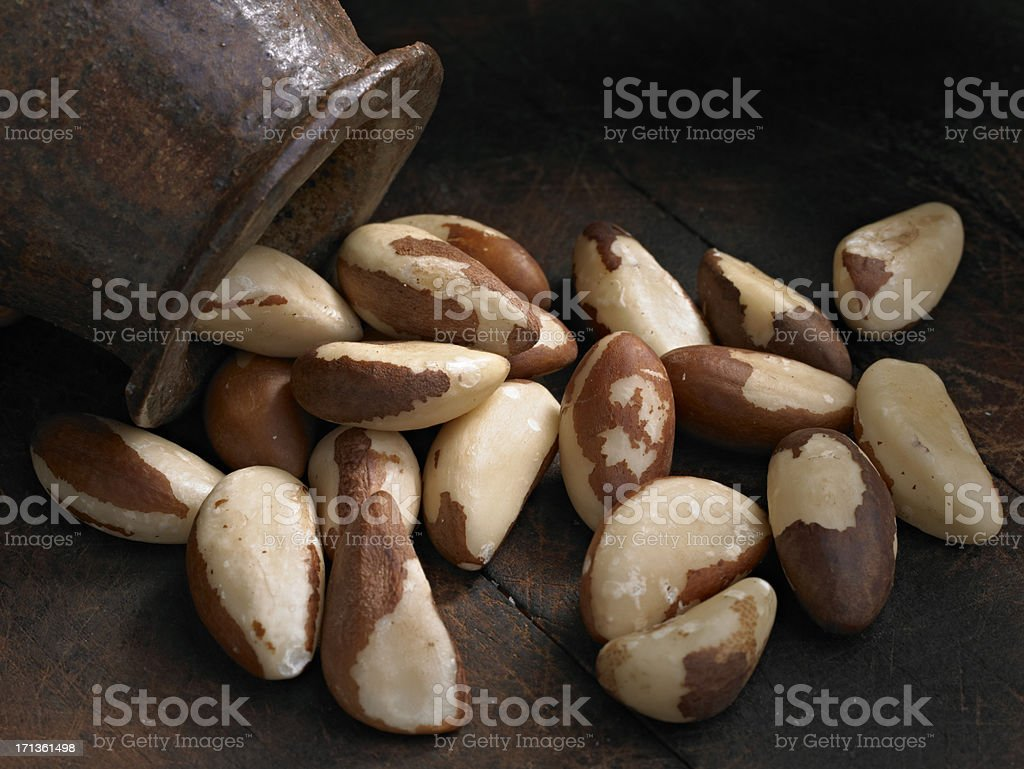 Raw Brazil Nuts stock photo