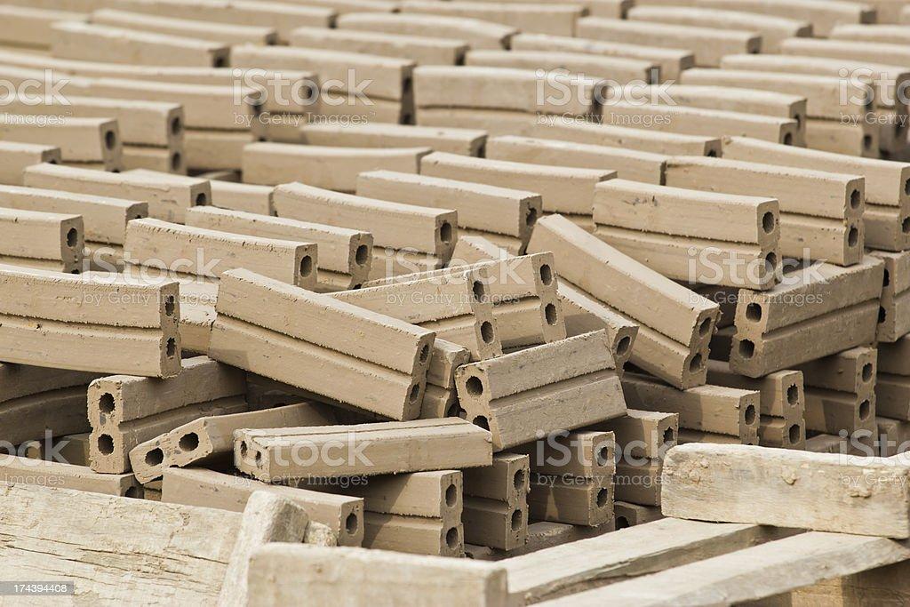 Raw bricks royalty-free stock photo