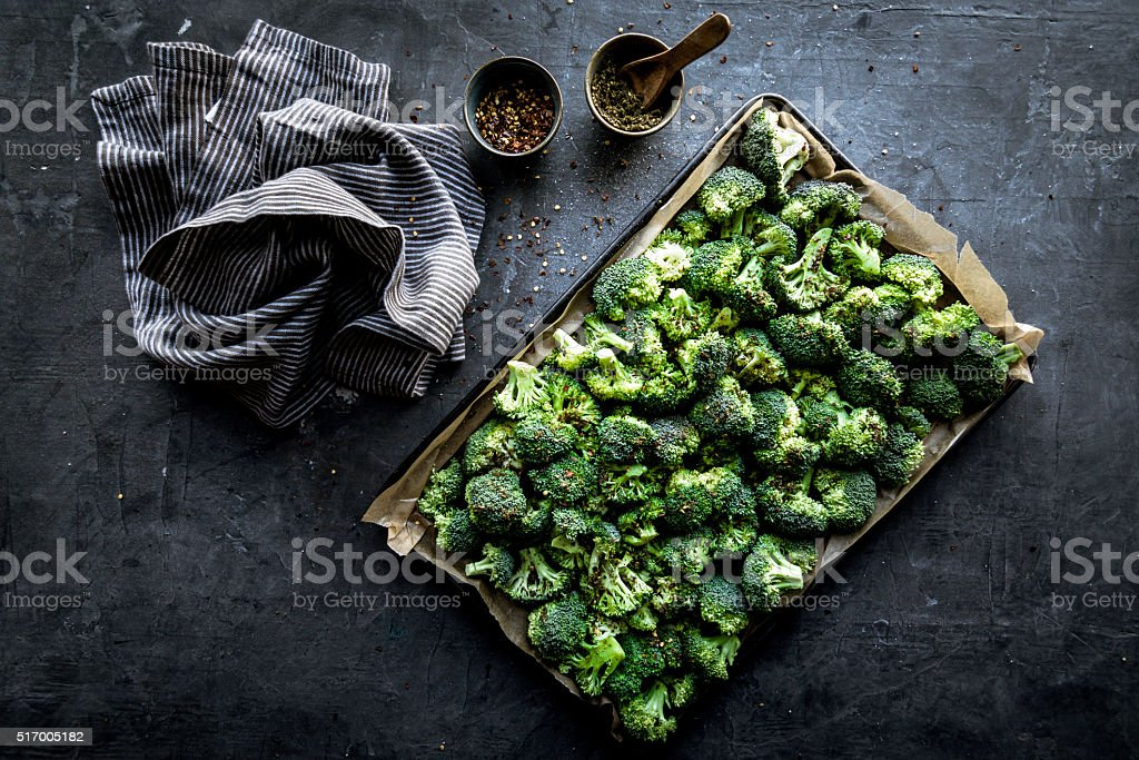Raw Broccoli stock photo