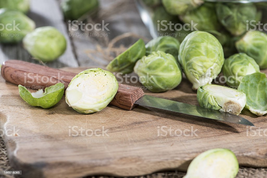 Raw Brussel Sprouts royalty-free stock photo