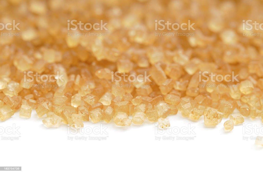 Raw Cane Sugar Macro stock photo
