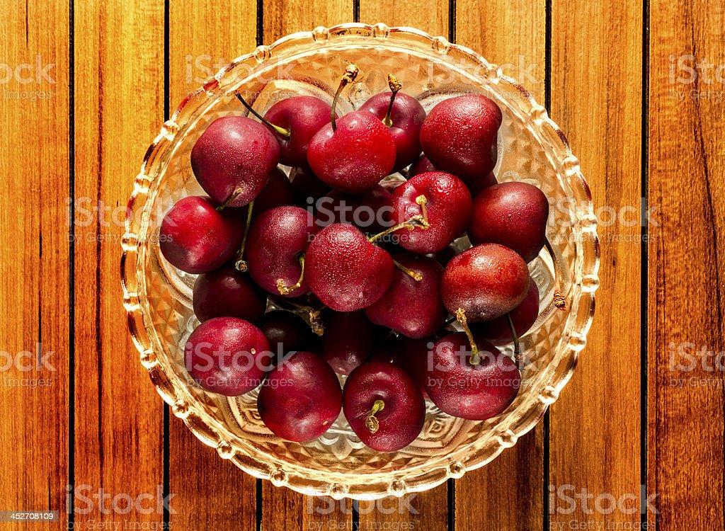 Raw Cherries royalty-free stock photo