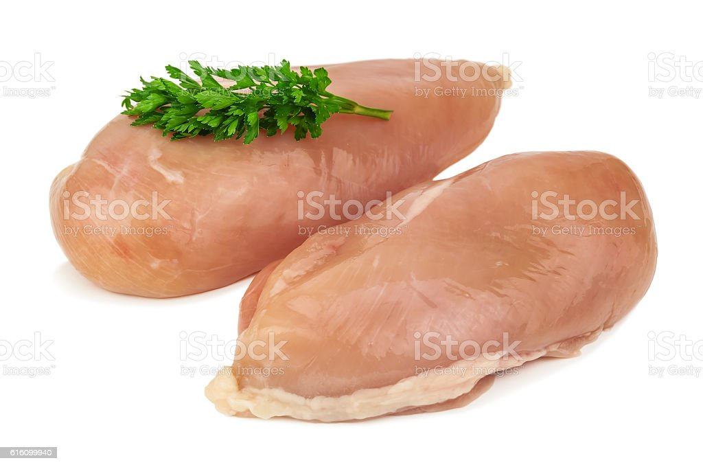 raw chicken fillet stock photo