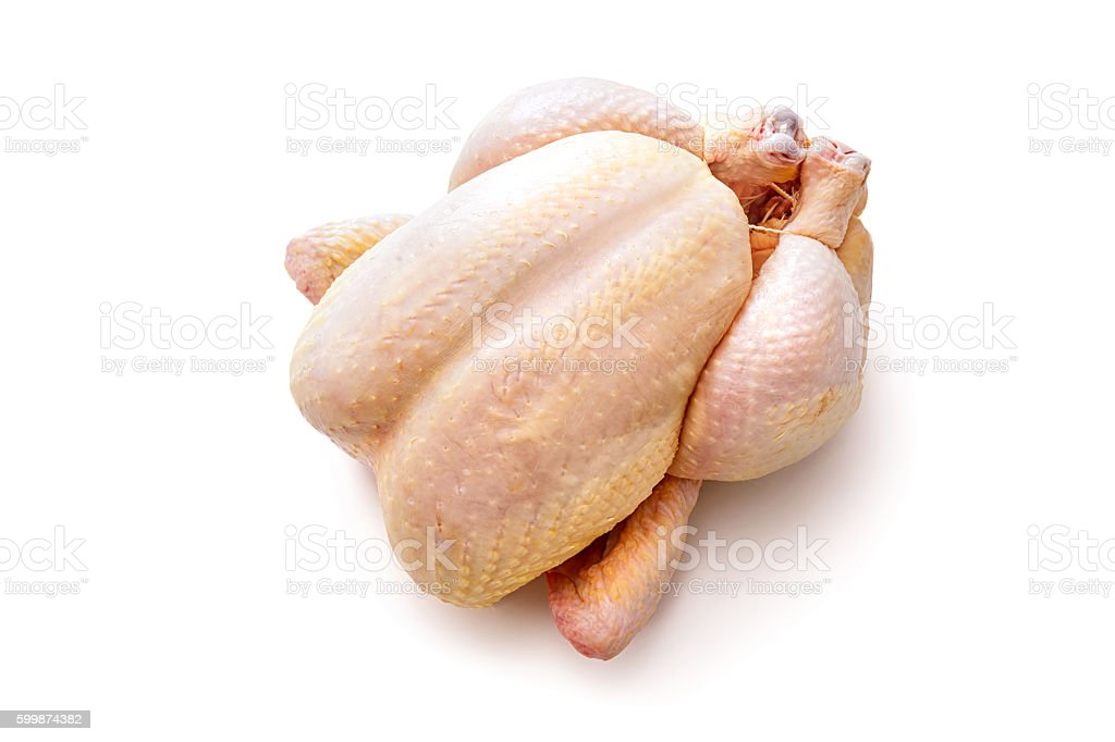 Raw chicken isolated stock photo