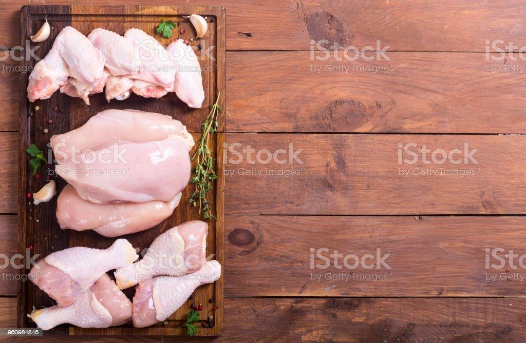 ROH Huhn Fleisch - Lizenzfrei Bein - Anatomiebegriff Stock-Foto