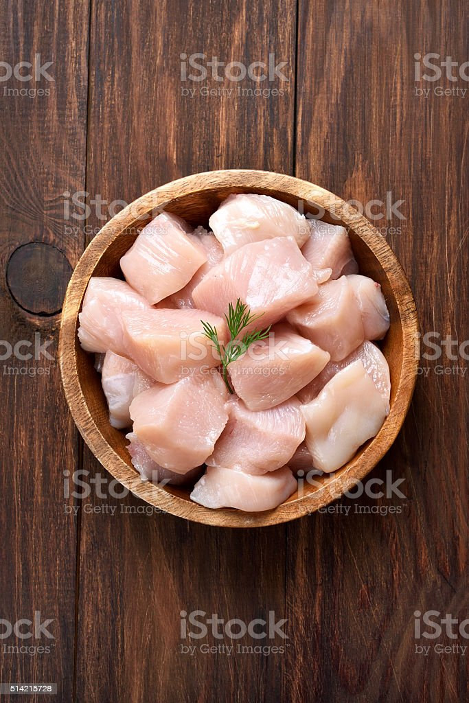 Raw chicken meat, top view stock photo
