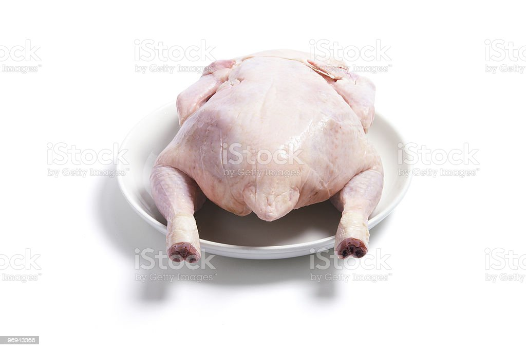 Raw Chicken on Plate royalty-free stock photo