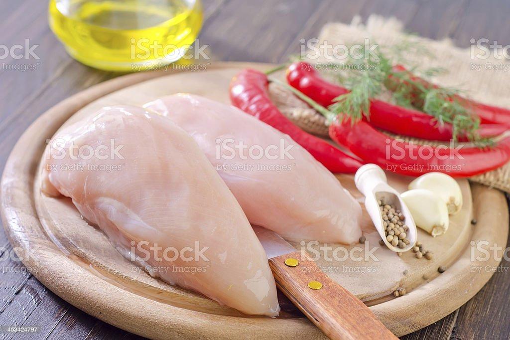 raw chicken royalty-free stock photo