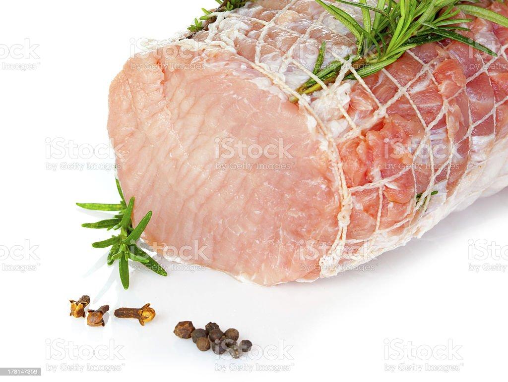 Raw chine of pork royalty-free stock photo