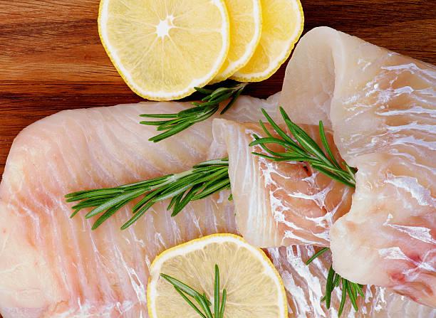 Raw Cod Fish stock photo