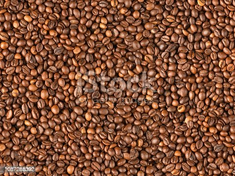 867484488 istock photo Raw coffee beans seamless texture and background 1087288392