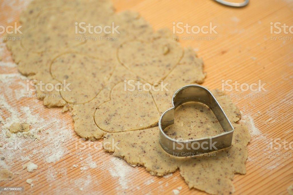 raw cookies dough stock photo