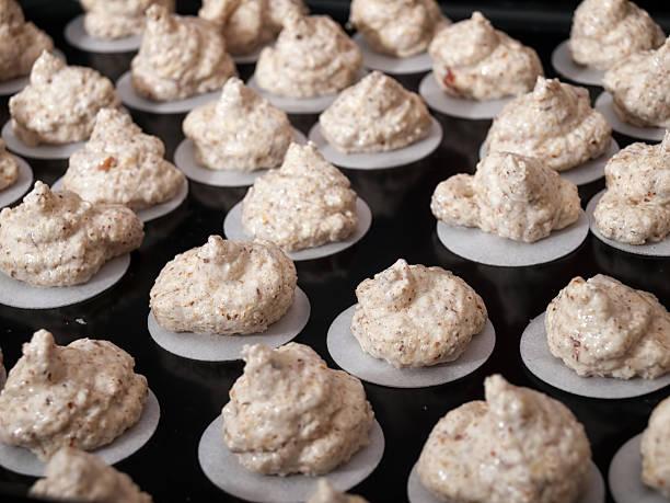 Raw cookies stock photo