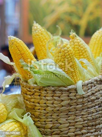 Corn - Crop, Corn, Basket, Vegetable, Container